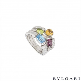 Bvlgari White Gold Diamond & Multi-Gem Allegra Ring AN852714